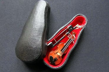 Violin Earrings With Bow Wood Miniblings Orchestra Music Instrument Musician Box – Bild 4