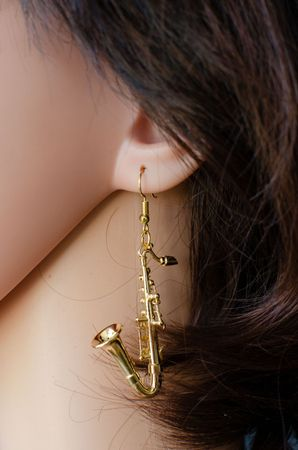 Saxophone Earrings Miniblings Jazz Sax Instruemnt Music Saxophonist Musician + Box – Bild 5