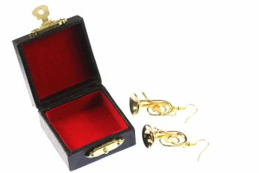 Tuba Tenor Horn Earrings Miniblings Orchestra Jazz Tubas Gold Plated With Box – Bild 2