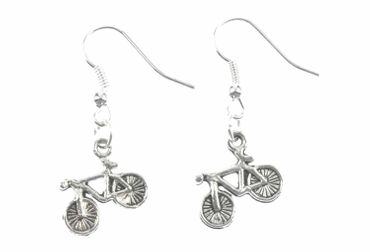 Bicycle Earrings Bike Bicycle Earrings Miniblings Bike Cycling Silver – Bild 2