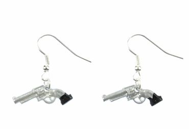 Pistole Ohrringe Revolver Revolverohrringe Miniblings Colt Cowboy Waffe mini