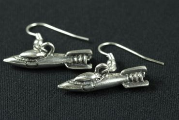 Spaceship Earrings Miniblings Space Shuttle All Space Space Silver – Bild 1