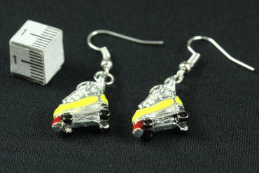 Rollschuhe Ohrringe Diskoroller Retro Miniblings Skates Ohrring emailliert gelb – Bild 3