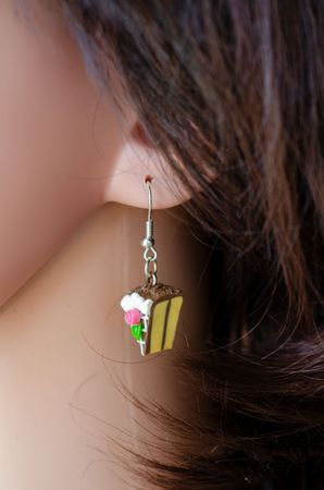 Slice Of Cake Earrings Cake Cake Piece Of Cake Miniblings Strawberry Pink – Bild 6