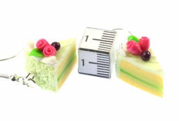 Slice Of Cake Earrings Cake Cake Piece Of Cake Miniblings Mint Lime Green – Bild 3