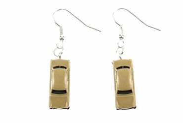 Trabi Trabant GDR East Germany DDR Germany German Car Cult Retro Vintage Car Earrings Miniblings Model 1 160 Beige – Bild 1