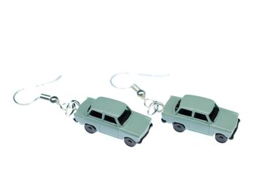 Trabi Trabant GDR East Germany DDR Germany German Car Cult Retro Vintage Car Earrings Miniblings Model 1 160 Blue – Bild 1