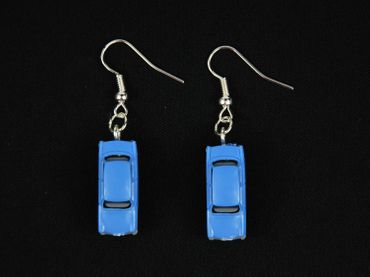 Trabi Trabant GDR East Germany DDR Germany German Car Cult Retro Vintage Car Earrings Miniblings Model 1 160 Blue – Bild 3