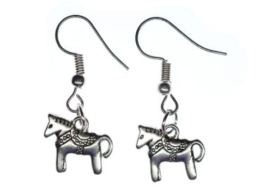 Dala Horse Earrings Miniblings Horse Dala Horse Sweden Swedish – Bild 1