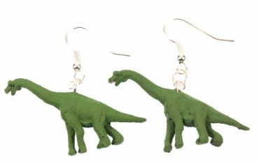Dinosaurier Brachiosaurus Ohrringe Dino Miniblings Gummi Pflanzenfresser grün – Bild 1