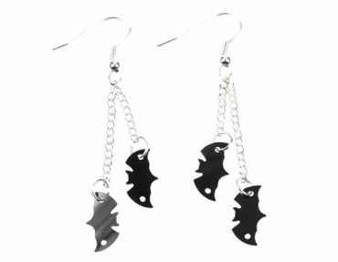 Bat Earrings Bats Miniblings Black Silver 2 Bats Necklace Vampire