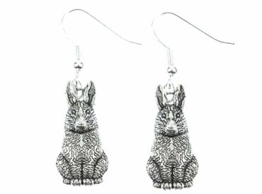 Rabbit Bunny Earrings Miniblings Bunny Bunny Rabbit Hare Rabbit Bunny Silver – Bild 2