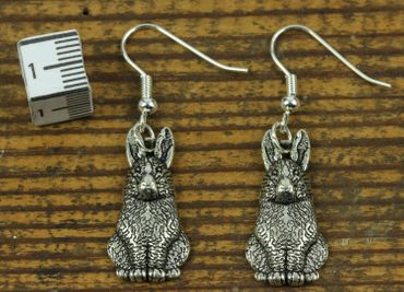 Rabbit Bunny Earrings Miniblings Bunny Bunny Rabbit Hare Rabbit Bunny Silver – Bild 1