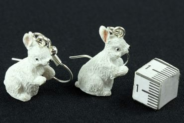 Rabbit Earrings Miniblings Easter Bunny Standing White – Bild 4