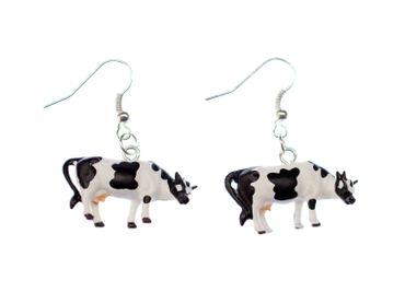 Cow Earrings Cows Dairy Miniblings Simmental Farm Farm Milk Blackweiß – Bild 1