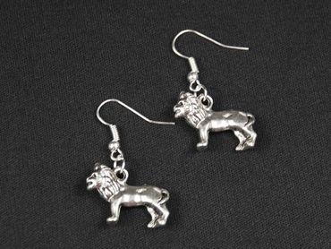 Leo Lion Earrings Lion Earrings Miniblings Lion Africa Big Cat Silver Lioness – Bild 4