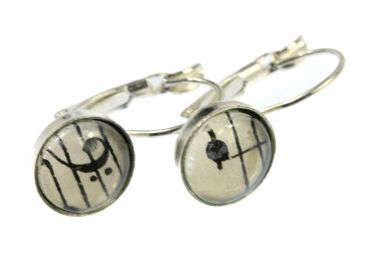 Notes And Treble Clef Earrings Cabochon Miniblings Beethoven 12mm Music – Bild 5