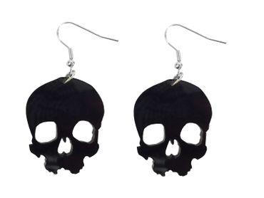 Skull Earrings Miniblings Halloween Horror Acrylic
