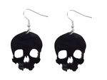 Skull Earrings Miniblings Halloween Horror Acrylic
