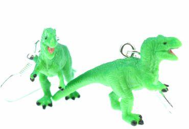 Tyrannosaurus Rex Ohrringe Dinos Dinosaurier Miniblings T-Rex Dino Gummi grün – Bild 1