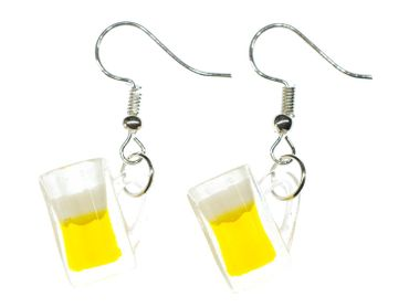 Beer Glass Earrings Miniblings Munich Bavaria Germany Oktoberfest Wiesn Liter Of Beer Glass – Bild 2