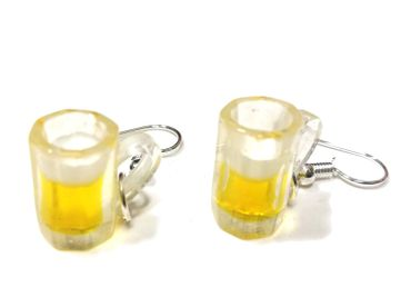Beer Glass Earrings Miniblings Munich Bavaria Germany Oktoberfest Wiesn Liter Of Beer Glass – Bild 1