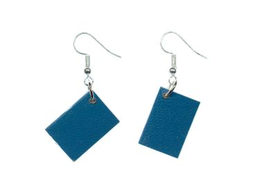 Book Earrings Miniblings Books Book Earrings Bookworm Pages Bookelt Blue – Bild 1
