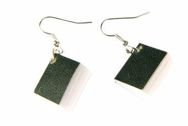 Book Earrings Miniblings Books Book Earrings Bookworm Pages Book Green – Bild 4