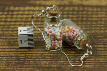Colorful Beads Stock Glass Earrings Miniblings Sprinkles Candy Jar Bonboniere – Bild 3
