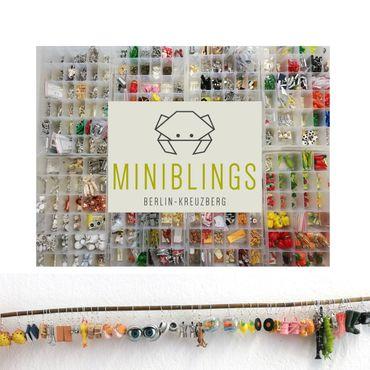 Diamant Ohrringe Miniblings Hänger Brillant Edelstein Rubin braun Holz – Bild 2