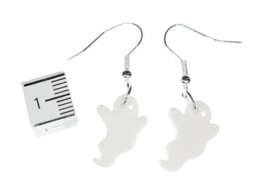 Ghost Earrings Miniblings Halloween Ghost Ghost Acrylic White – Bild 2
