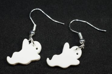 Ghost Earrings Miniblings Halloween Ghost Ghost Acrylic White – Bild 4