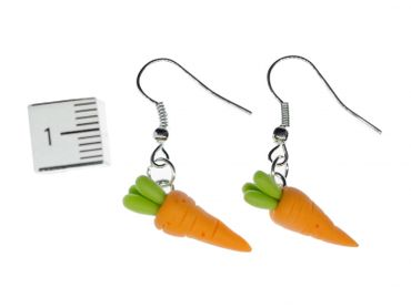 Carrot Carrots Earrings Miniblings Bunny Rabbit Vegetables 3D Orange Root Vegetables – Bild 3