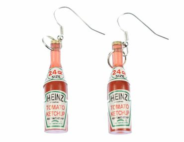 Ketchup Bottle Earrings Miniblings Bbq Fast Food Kitchen Fries – Bild 1
