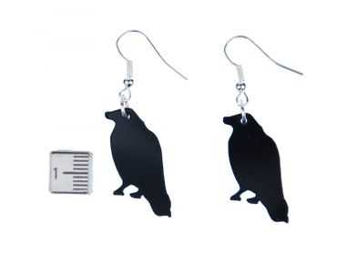 Crow Raven Earrings Miniblings Bird Earrings Acrylic Birds – Bild 2