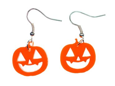 Pumpkin Earrings Miniblings Halloween Pumpkin Acrylic Orange 30mm Jack O Lantern – Bild 3