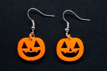Pumpkin Earrings Miniblings Halloween Pumpkin Acrylic Orange 30mm Jack O Lantern – Bild 1