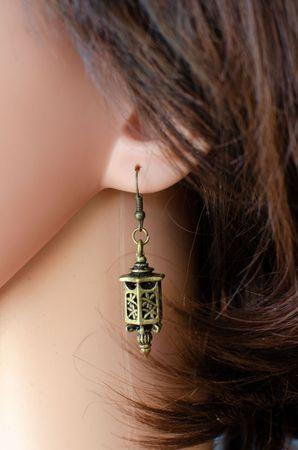 Laterne Ohrringe Hänger Miniblings Lampe Marokko Orientalisch Asiatisch Bronze – Bild 3