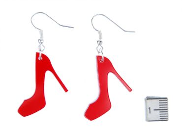 Pumps Earrings Miniblings Shoes Heels Fashion Acrylic Red – Bild 2