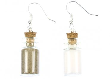 Salt Pepper In A Glas Earrings Miniblings Storage Jar Spices Camping – Bild 2