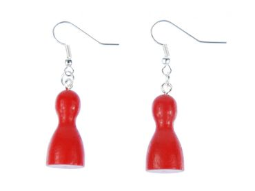 Play Figure Figures Figurines Earrings Miniblings Board Game Ludo Red – Bild 1