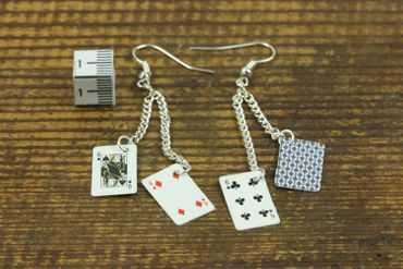 Playing Cards Earrings Miniblings Skat Casino Card Game Poker Poker 2Nd – Bild 3