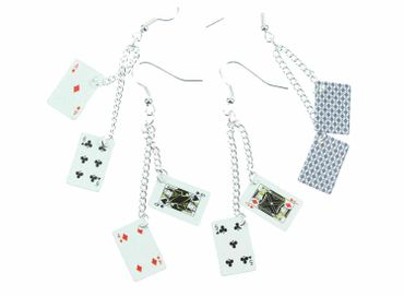 Playing Cards Earrings Miniblings Skat Casino Card Game Poker Poker 2Nd – Bild 4
