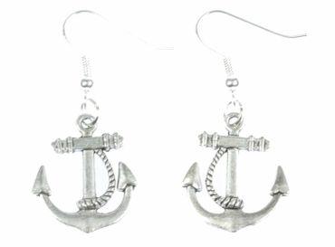 Anker mit Seil 2 Ohrringe Hänger Miniblings Maritim Boot Schiff Ankerohrringe – Bild 1