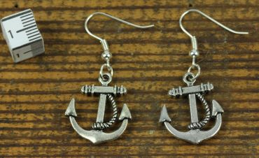 Anchor With Rope 2 Earrings Miniblings Maritime Boat Ship Anchor Earrings S – Bild 2
