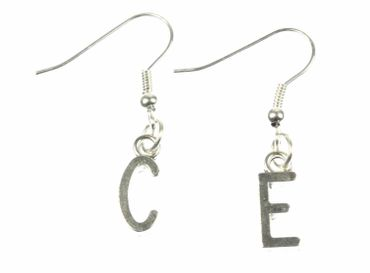Request Letter Earrings Miniblings Customized Initial Initials Silver J +? – Bild 6