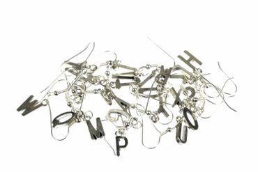 Buchstaben Ohrringe Hänger Miniblings Buchstabe WUNSCHBUCHSTABEN silber L+? – Bild 7