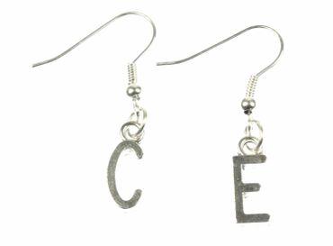 Buchstaben Ohrringe Hänger Miniblings Buchstabe WUNSCHBUCHSTABEN silber R+? – Bild 6