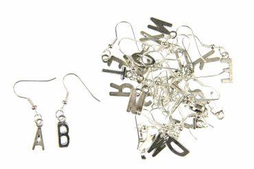 Buchstaben Ohrringe Hänger Miniblings Buchstabe WUNSCHBUCHSTABEN silber V+?