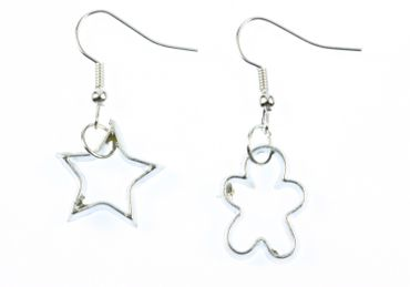 Ramekins Earrings Cookie Cutter Cookies Baking Christmas Star Gingerbread Man – Bild 2